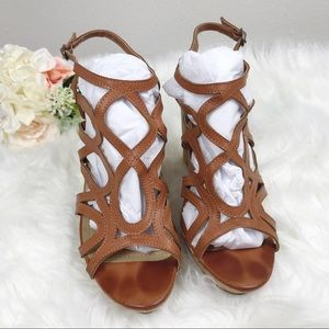 Charming Charlie   Wedge Strappy Sandals